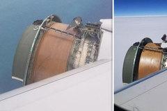 Video vỏ động cơ máy bay rơi rụnggiữa không trung