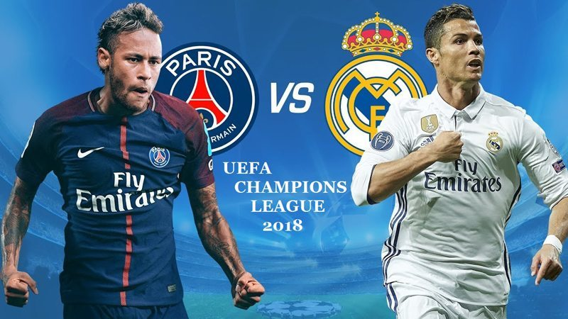 Real Madrid,PSG,Vòng 1/8 Champions League