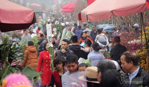 tắc đường chợ hoa
