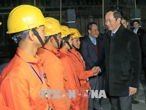Chủ tịch nước Trần Đại Quang,Trần Đại Quang,Giao thừa,Tết Nguyên đán,Tết Mậu Tuất