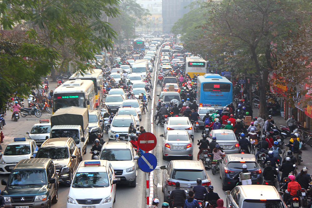 tắc đường,ùn tắc,ùn tắc giao thông,Tết nguyên đán,mùng 1 Tết,Hà Nội