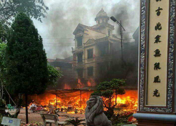 cháy,đền Mẫu,Tết Nguyên đán 2018,Tết Việt 2018,hỏa hoạn