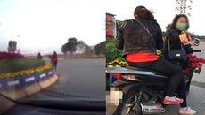 Hai phụ nữ đi SH trộm hoa nơi công cộng mang về nhà