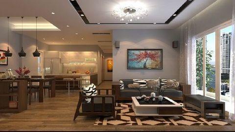 Cách thiết kế nội thất nhà bếp liền phòng khách