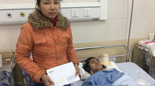 Em Cao Thị Huyền Trang bị tai nạn đang dần hồi phục