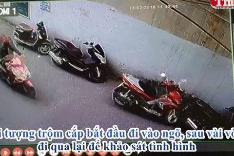 Trộm xe máy SH 'trong đúng 16 giây' tại Hà Nội