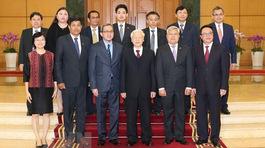 Tổng bí thư tiếp Đại sứ, Đại biện ngoại giao 9 nước ASEAN đến chúc Tết