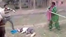 Chồng bị đánh hội đồng, vợ ra tay giải cứu0