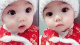 Tan chảy với đôi mắt thiên thần của em bé này