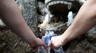 Chen chúc leo ngàn bậc lên núi thiêng lấy 'nước thánh'
