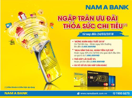 Ngập tràn ưu đãi cho chủ thẻ Nam A Bank Mastercard