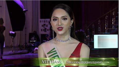 Hương Giang trả lời phỏng vấn bằng tiếng Anh ở Miss International Queen 2018