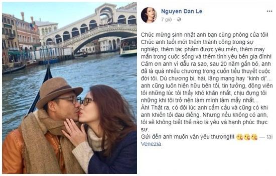 Đan Lê viết thư xúc động cho người tình 20 năm