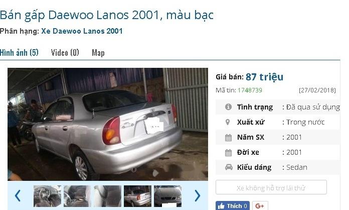 Những chiếc ô tô cũ chính hãng này đang bán giá chỉ 80 triệu