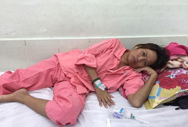 Chị Đặng Thị Hiền đã được phẫu thuật