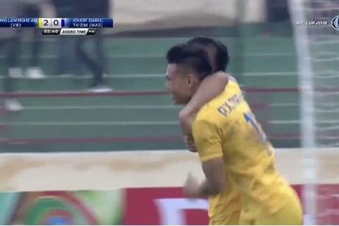SLNA 2-0 Johor Darul: Xuân Mạnh ghi bàn