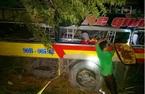Hiện trường vụ lật xe trên đèo Lò Xo, 20 người bị nạn