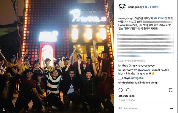 Seungri (Big Bang) xuất hiện chóng vánh ở Hà Nội