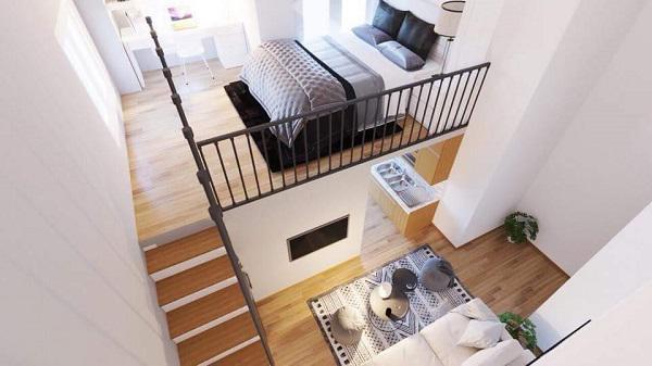 Nhà đẹp,thiết kế nhà,thiết kế căn hộ chung cư,căn hộ chung cư 2 phòng ngủ