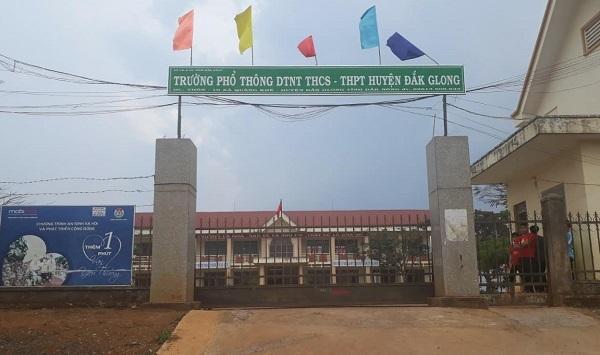ngộ độc thức ăn,Trường phổ thông DTNT,BV đa khoa huyện Đắk G'long,Đắk Nông