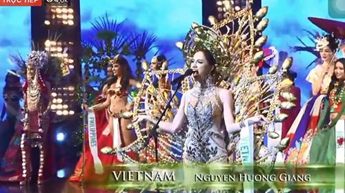 Hương Giang Idol chiến thắng phần thi tài năng tại Hoa hậu Chuyển giới