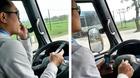 Đuổi việc tài xế dùng khuỷu tay lái xe buýt