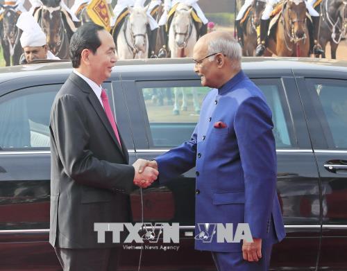 Chủ tịch nước Trần Đại Quang,Trần Đại Quang,Ấn Độ
