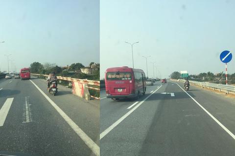 xe máy đi vào đường cao tốc