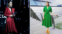 MC Quỳnh Chi sang chảnh không kém hoa hậu với đầm đỏ
