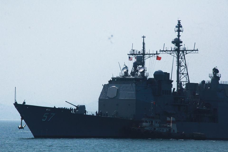 Tàu sân bay Mỹ đến vịnh Đà Nẵng, cách cảng Tiên Sa 3km