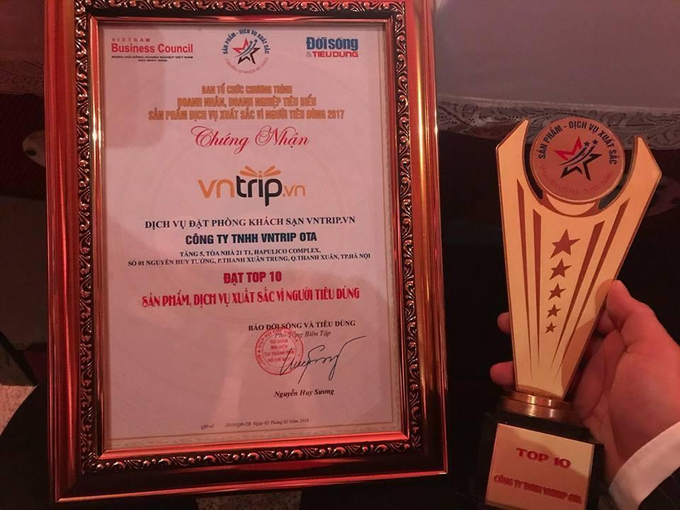 VNTRIP.VN lọt Top 10 dịch vụ xuất sắc vì người tiêu dùng