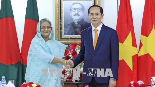 Trần Đại Quang,Chủ tịch nước Trần Đại Quang,Bangladesh