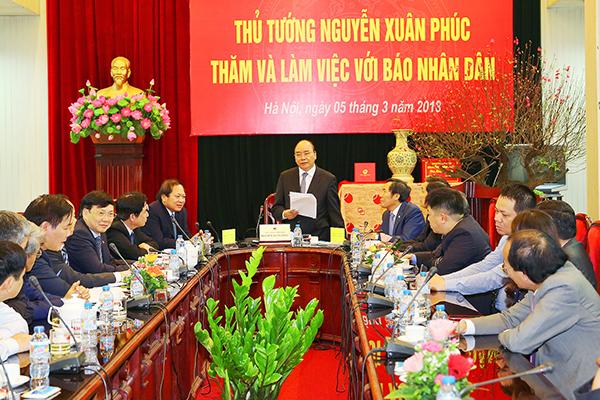 Thủ tướng,Nguyễn Xuân Phúc,báo chí,báo Nhân dân