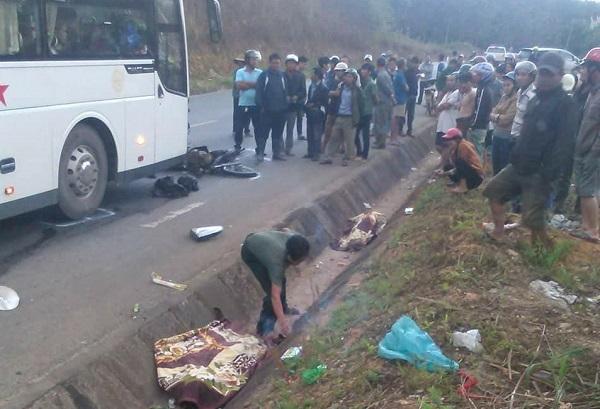 xe khách tông xe máy,tai nạn giao thông,quốc lộ 14,Đắk Tô,Kon Tum