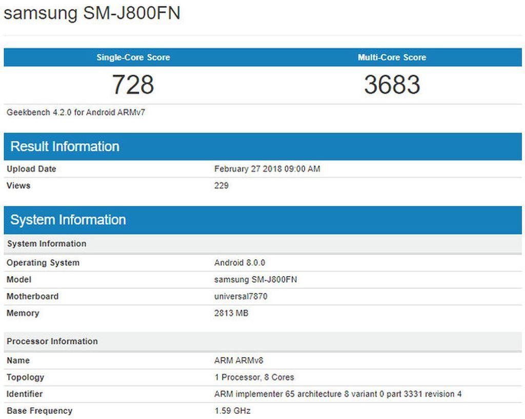 Smartphone Galaxy J8 sắp ra mắt lộ thông số kỹ thuật