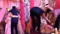 Cô dâu khóc như mưa ôm chặt bạn trai cũ trong đám cưới