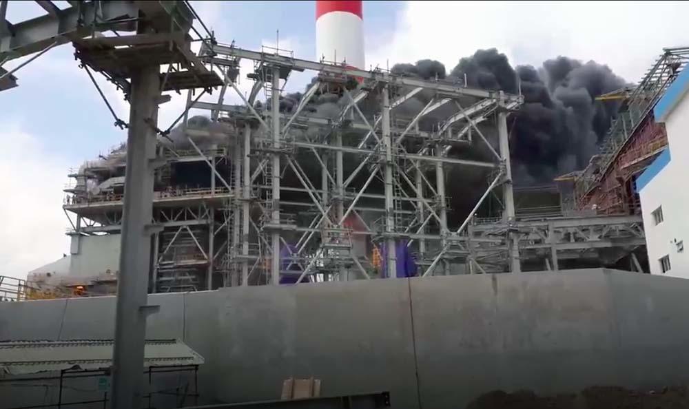 Cháy lớn ở nhà máy nhiệt điện Duyên Hải 3