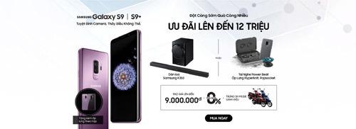 Mua Galaxy S9/S9+ tiết kiệm đến 9 triệu đồng