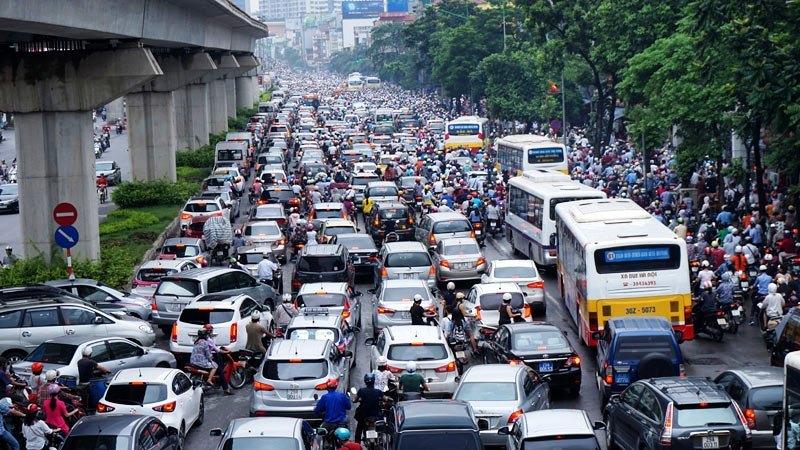 tắc đường,kẹt xe,Hà Nội