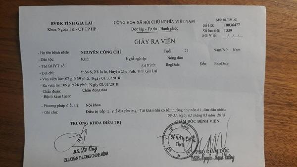 Công an đánh người,tố cáo,Công an huyện Chư Pưh,Gia Lai,Nguyễn Công Chí