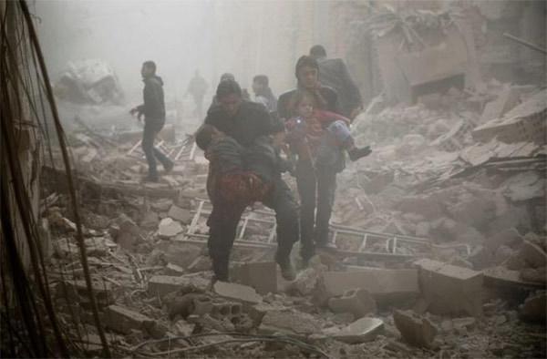 Đông Ghouta,địa ngục trần gian,Syria,nội chiến,đẫu máu