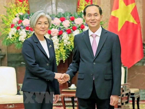 Chủ tịch nước, Thủ tướng tiếp Bộ trưởng Ngoại giao Hàn Quốc