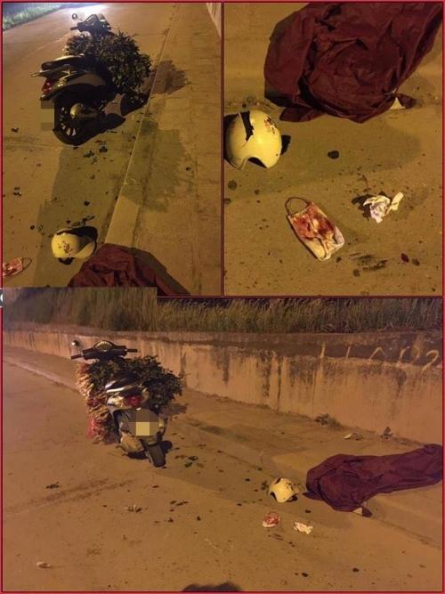 Cô gái bị chém, cướp xe máy trên đê Bát Tràng