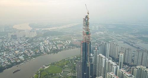 Cất nóc tòa nhà Landmark 81 cao nhất Việt Nam
