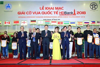 Chủ tịch FIDE dự khai mạc giải Cờ vua Quốc tế HDBank 2018