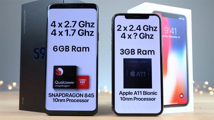Galaxy S9 Plus đè bẹp iPhone X trong bài kiểm tra tốc độ thực tế