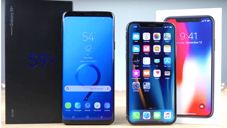 Galaxy S9 Plus,Galaxy S9+,iPhone X,Galaxy S9