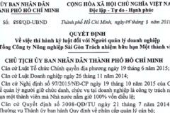 TGĐ Công ty Nông nghiệp Sài Gòn bị kỷ luật