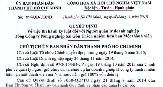 kỷ luật,Lê Tấn Hùng,Lê Thanh Hải,TP.HCM