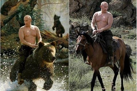 Tổng thống Nga,Putin,cưỡi ngựa